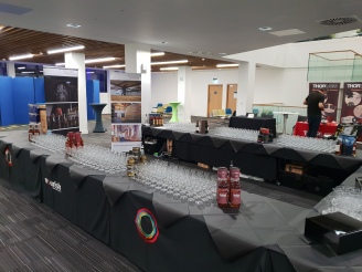 Strathclyde University Whisky Tasting set up